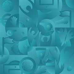 Soccer green background, vector illustration