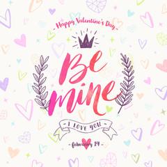 Valentine's day hand drawn vector illustration
