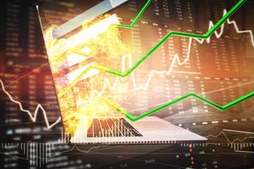 Aktien - Chart - Wachstum