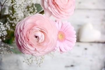 Frühlingsblumen - Blumengrüße rosa Blumenstrauß