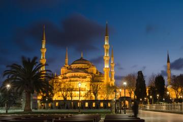 Sultanahmet blue mosque at night, Istanbul ,Turkey