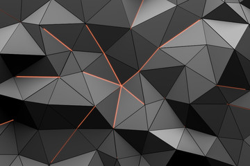 Black triangles pattern background