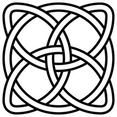 Celtic shamrock knot in circle symbol Ireland, vector symbol symbol of infinity, longevity and health