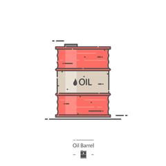 Oil barrel - Line color icon