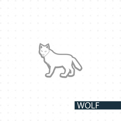 wolf vector icon.