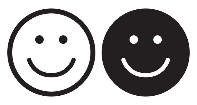 Smile icons. Happy face symbols.