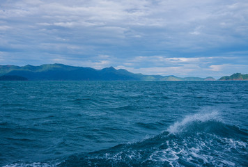landscape,sea and island view from Trat,Thiland,gulf of Thailand