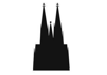 cathedral skyline of german city of Cologne. Fototapete