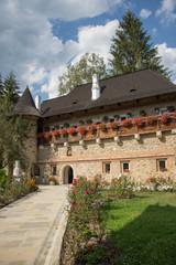 Romania, Moldovita Monastery,September ,2017,inner  yard