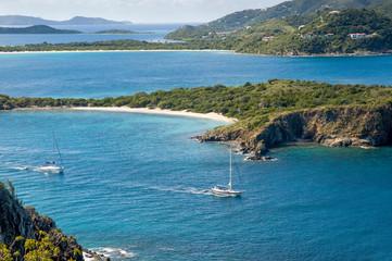 British Virgin Islands Sail Boat Scenic View