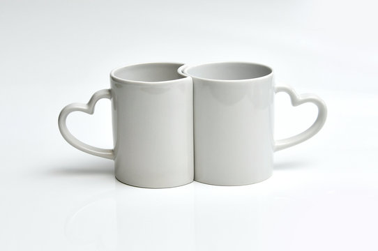 glazed white porcelain mug