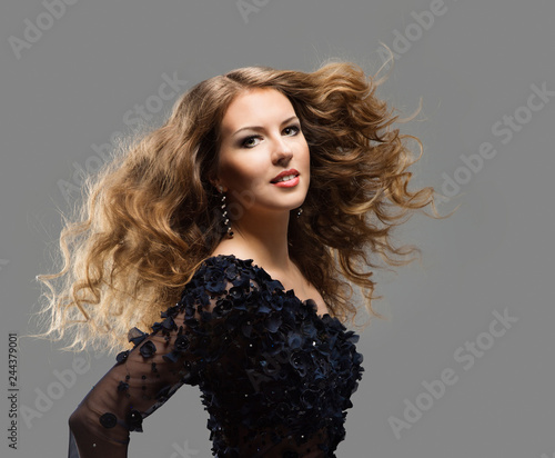 Fashion Model Long Hair Woman Long Hair Care And Treatment Young