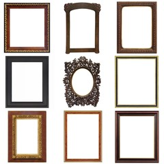 Set of wooden frames for paintings, mirrors or photos