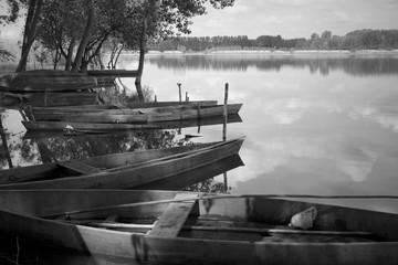 Wooden lake boats