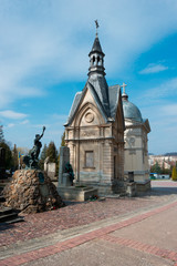 Crypts on Lychakiv Cemetery in Lviv, Ukraine