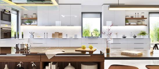 Modern interior design luxury kitchen