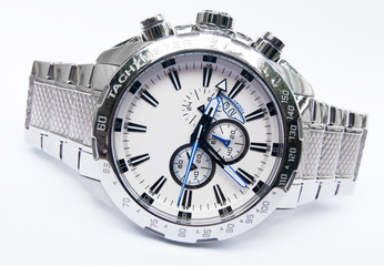 men's silver watch
