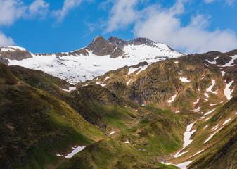 Summer Pass del San Gottardo, Switzerland.