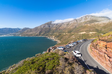 View on high coast of chapmans peak drive, Cape Town