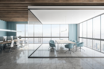 Fotomurales - Bright meeting room with NY view