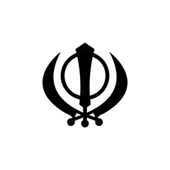 religion symbol, Sikhism icon. Element of religion symbol illustration. Signs and symbols icon can be used for web, logo, mobile app, UI, UX