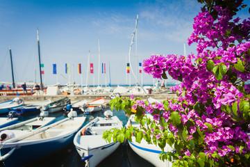 Beautiful sunny day in Bardolino near lake Garda