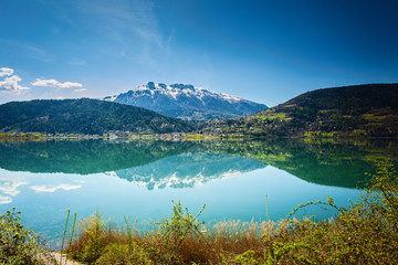 Caldonazzo lake in Italy