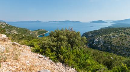 Morning hazy summer sea, Croatia