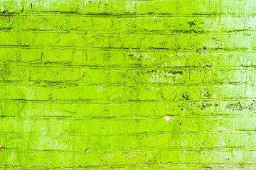 green brickwork background