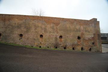 Old remains of brick ovens along dyke riverside Hollandsche IJssel at Klein Hitland in Nieuwerkerk aan den IJssel