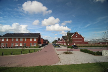 Zevenrozenhof, a new residential district at the Zuidplaspolder in Zevenhuizen, the Netherlands