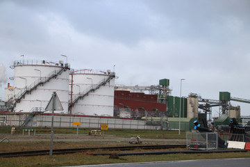 Bio refinery of Alco Energy in the Botlek harbor in the Port of Rotterdam in the Netherlands