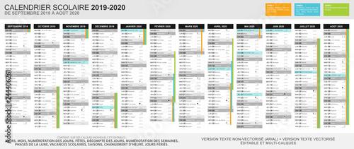 Calendrier Des Vacances Scolaires 2019 Et 2020.Calendrier Scolaire 2019 2020 Zone A Calendrier 2020