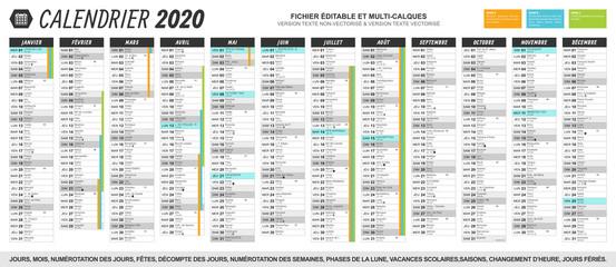 Calendrier 2020 Et 2021 Vacances Scolaires.Calendrier 2020 Fetes