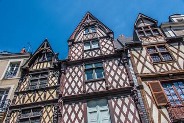 Maisons à pans de bois, Angers, Pays de la Loire, France