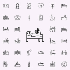 analysis results icon. Hospital icons universal set for web and mobile