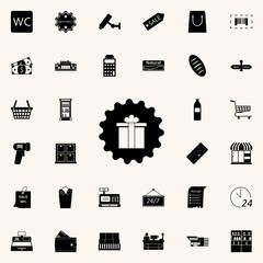 a badge of a gift icon. market icons universal set for web and mobile
