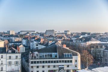 Angers en hiver, Pays de la Loire, France