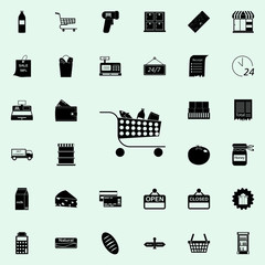 products in the basket icon. market icons universal set for web and mobile