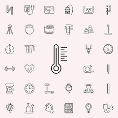 thermometer icon. Measuring Instruments icons universal set for web and mobile