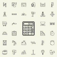 calculator icon. Measuring Instruments icons universal set for web and mobile