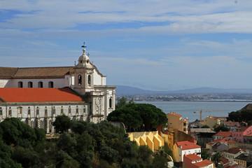 Monastery of Sao Vicente de Fora, view from Lisbon Catsle, Lisbon, Portugal