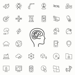intelligence brain icon. New Technologies icons universal set for web and mobile