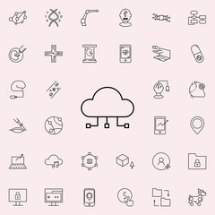 cloud computing icon. New Technologies icons universal set for web and mobile