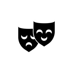 Mask icon simple party sign vector theater icon, Theater Mask icon
