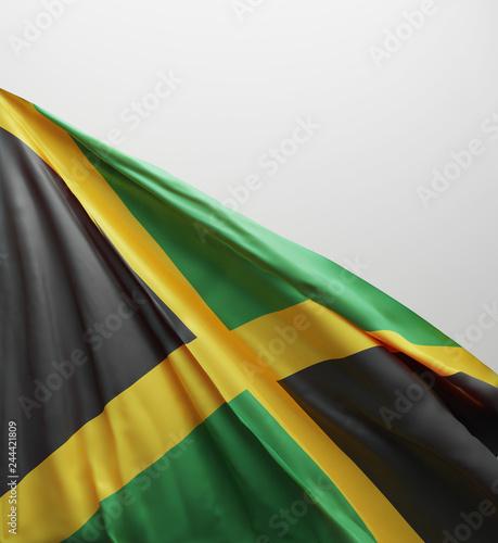 Jamaican Flag, Jamaica National Colors Background <<3D