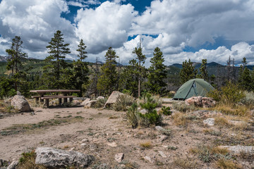 Glacier Basin Campground, Rocky Mountain National Park, Colorado, United States