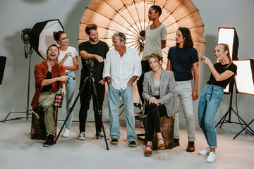 Portrait of a shoot production team