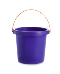 Toy bucket for sand on white background