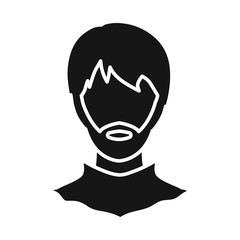 Vector design of avatar and dummy symbol. Set of avatar and image vector icon for stock.